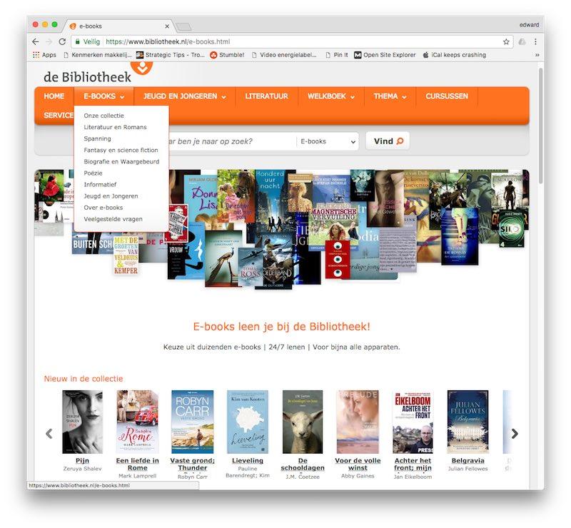 gratis ebooks downloaden van de bibliotheek