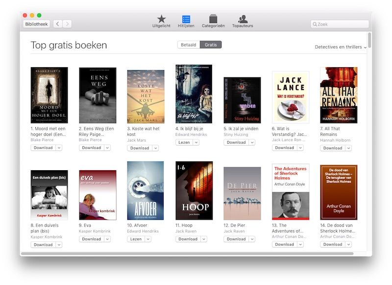 gratis ebooks downloaden van ibooks
